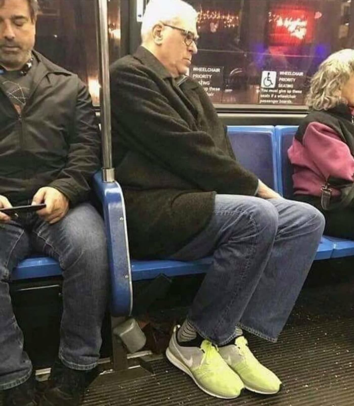Phil Jackson on a public bus.
