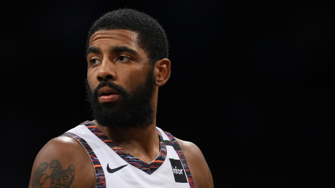 Kyrie Irving #11 of the Brooklyn Nets in action against the Atlanta Hawks.