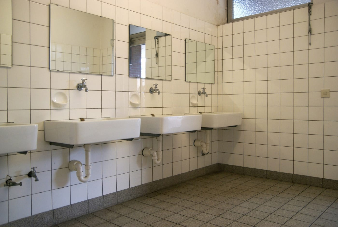 full time primary school, bathroom for pupils