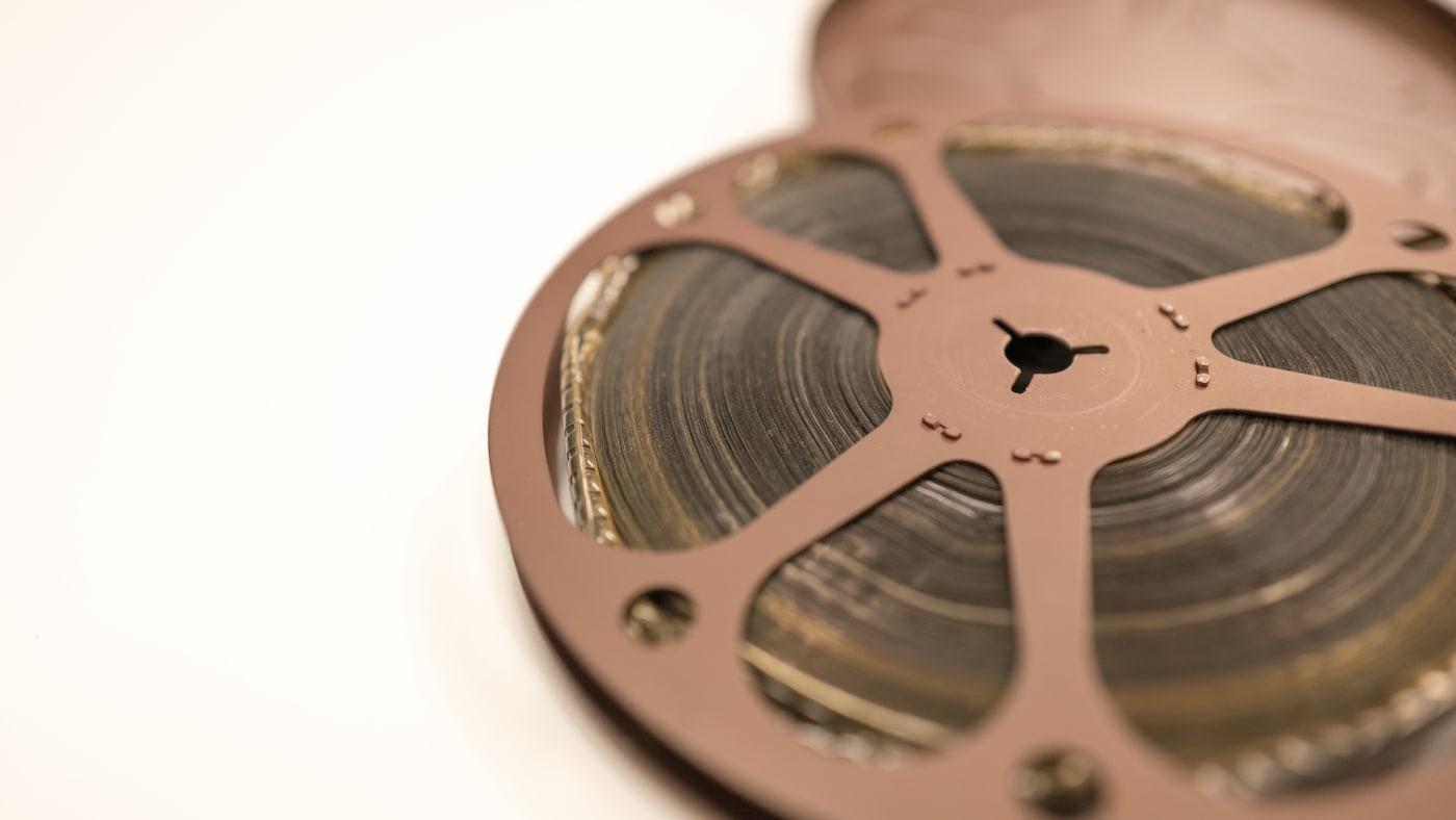 100 foot reel of 8mm home movie film.