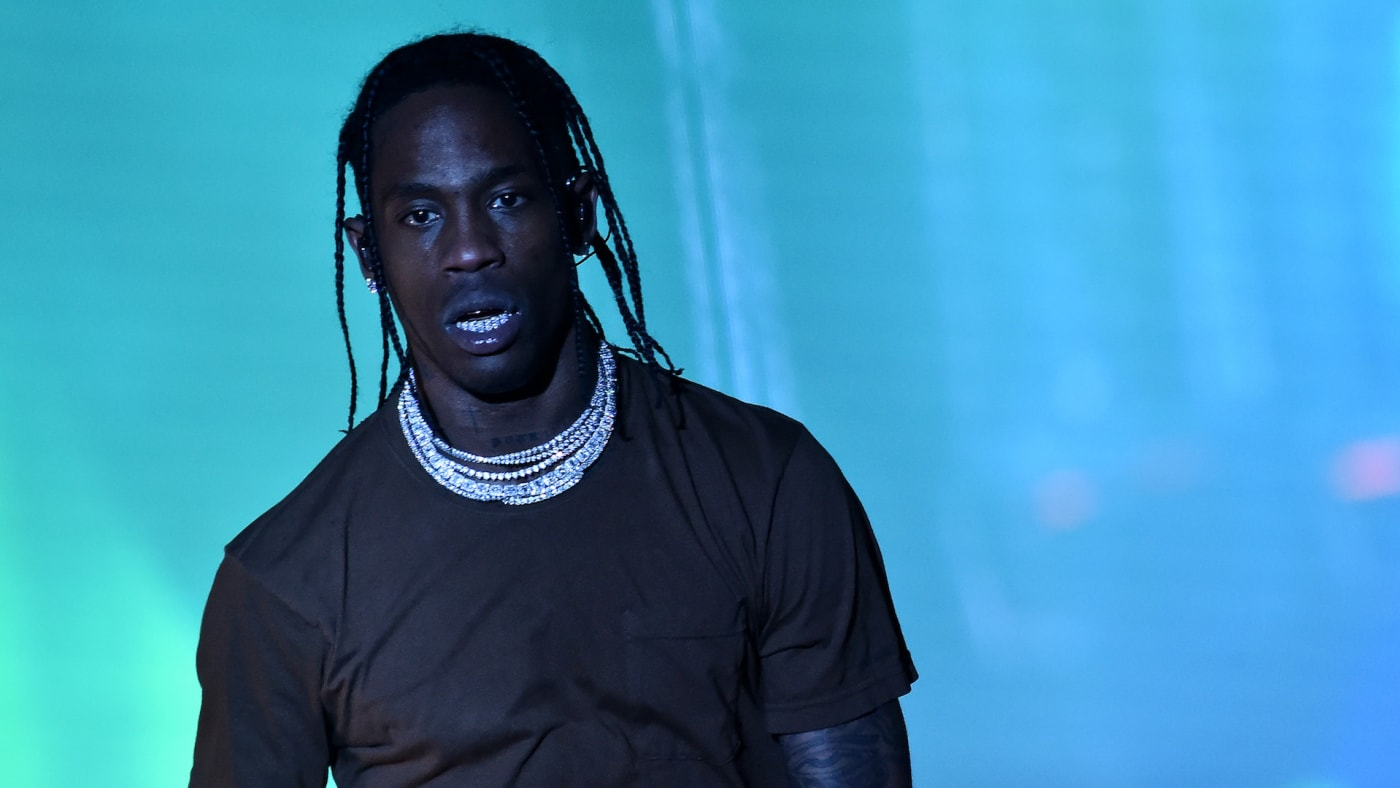 Travis Scott performs during the 2019 Rolling Loud music festival.
