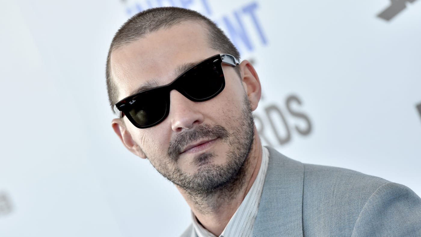 Shia LaBeouf attends the 2020 Film Independent Spirit Awards.
