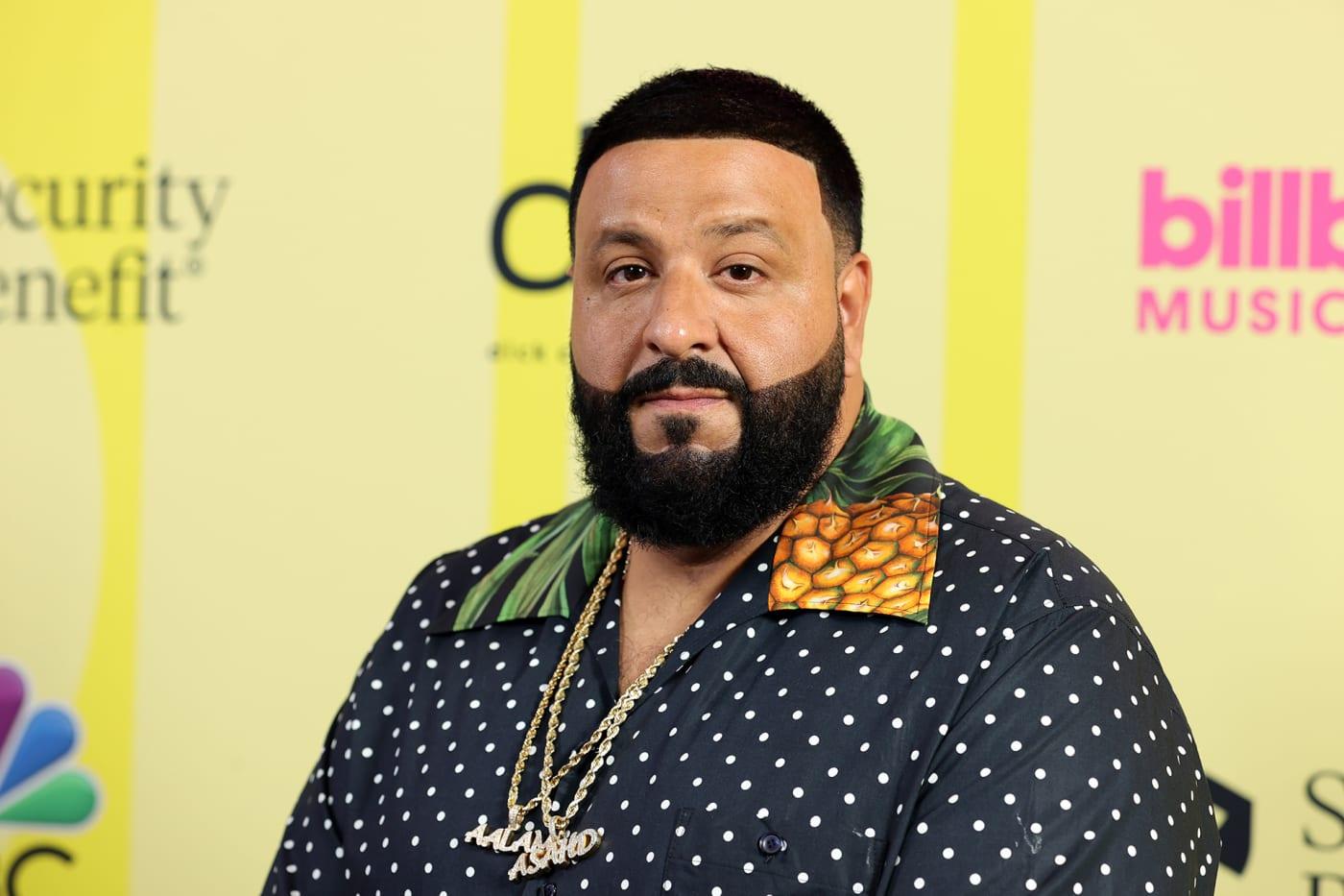 DJ Khaled poses backstage for the 2021 Billboard Music Awards