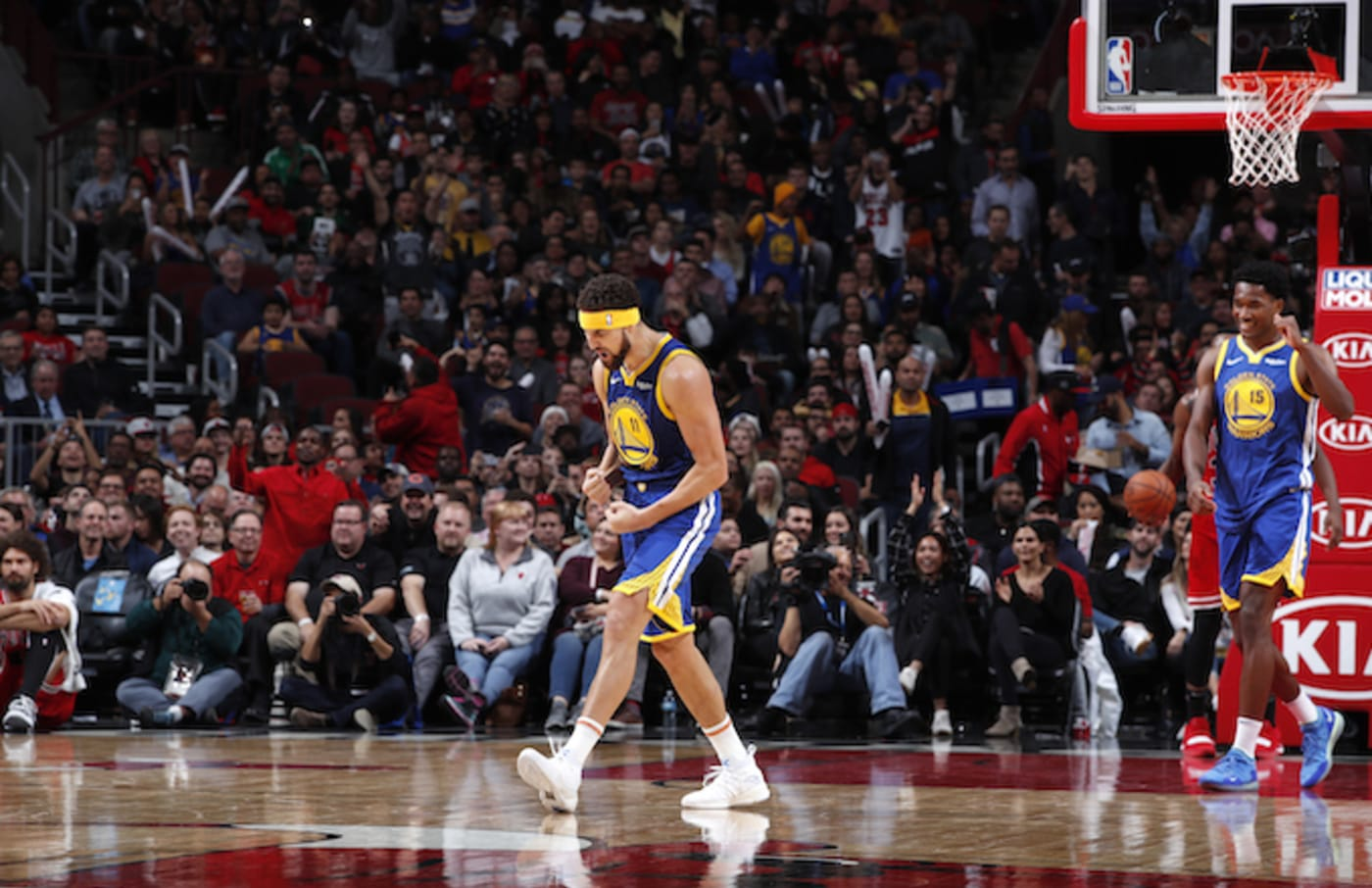 Klay Thompson #11 of the Golden State Warriors.