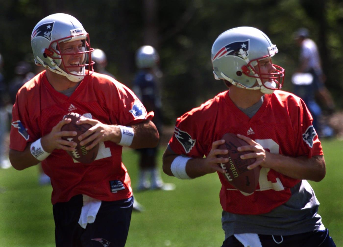 Tom Brady Drew Bledsoe 2001 Getty