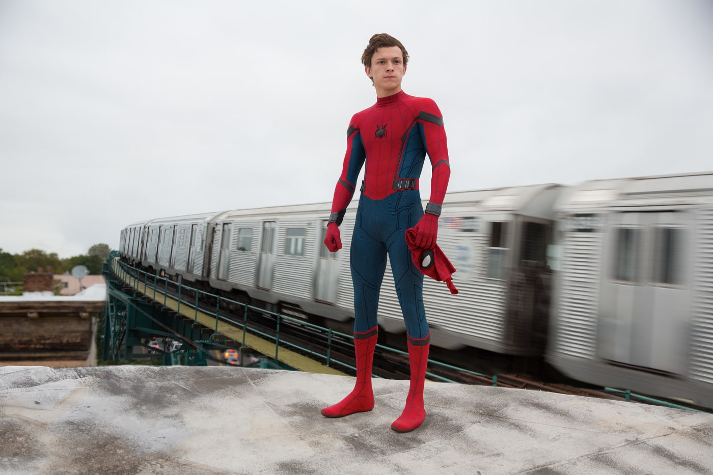 Tom Holland as Spider Man in 'Spider Man: Homecoming'