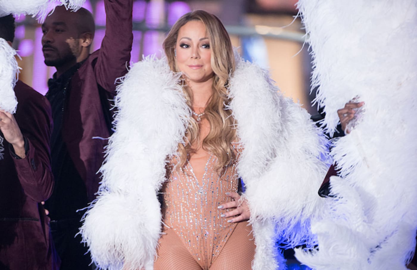 Mariah Carey performing on New Year's Eve in 2016.