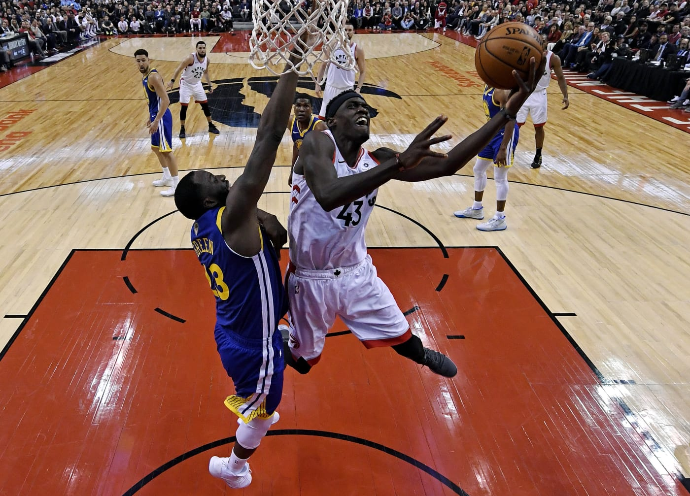 Pascal Siakam Raptors Warriors Game 1 NBA Finals 2019
