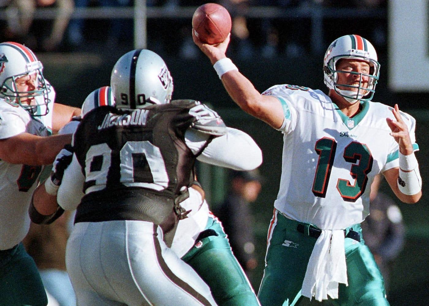 Dan Marino Miami Dolphins Oakland 1998 Getty