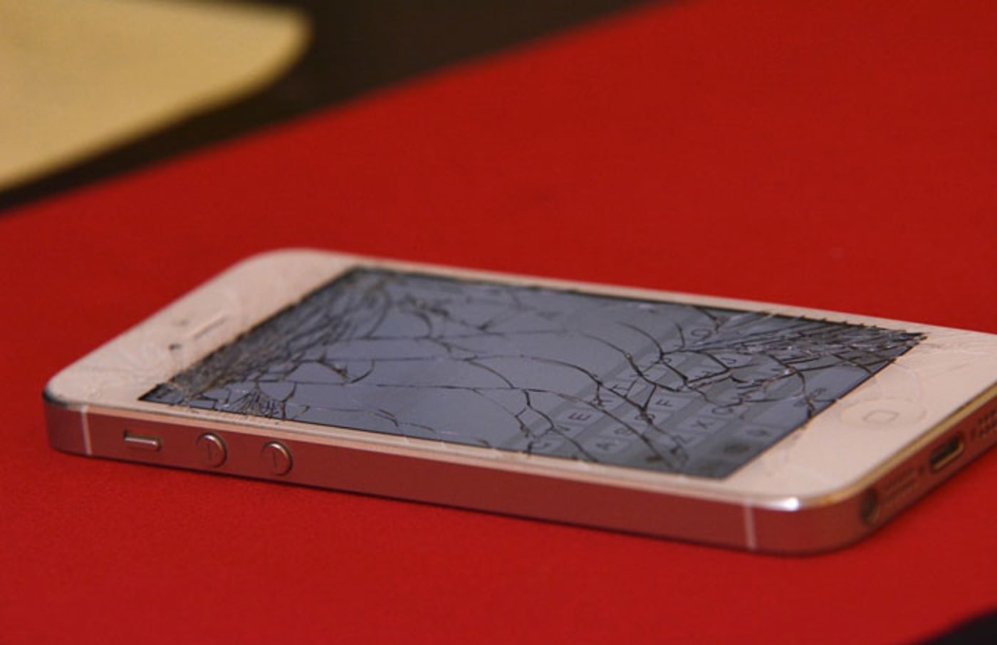 A cracked iPhone.