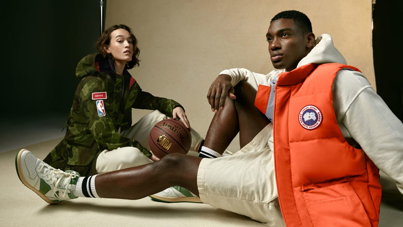 Canada Goose collection with Rhude and NBA