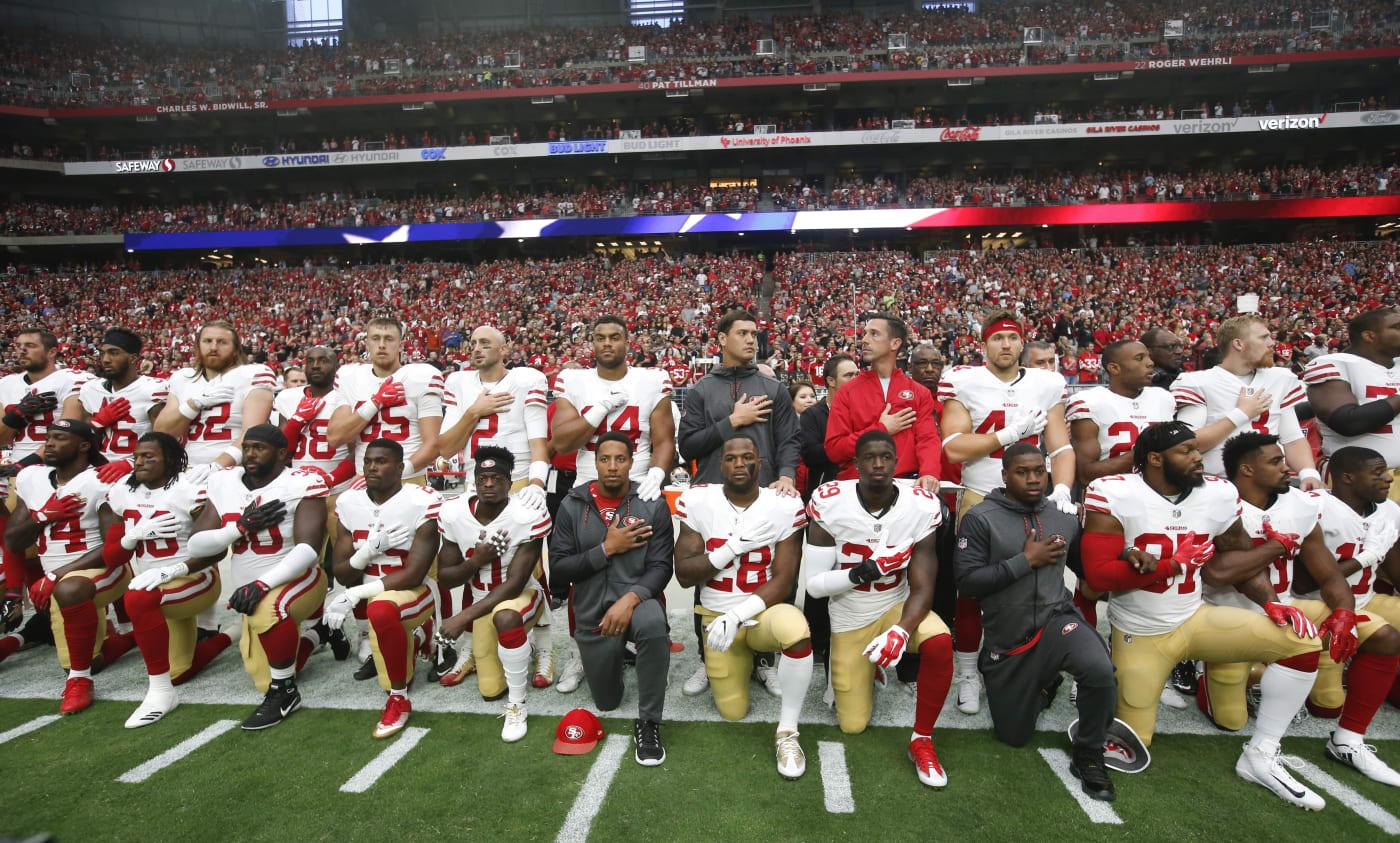 49ers Kneeling