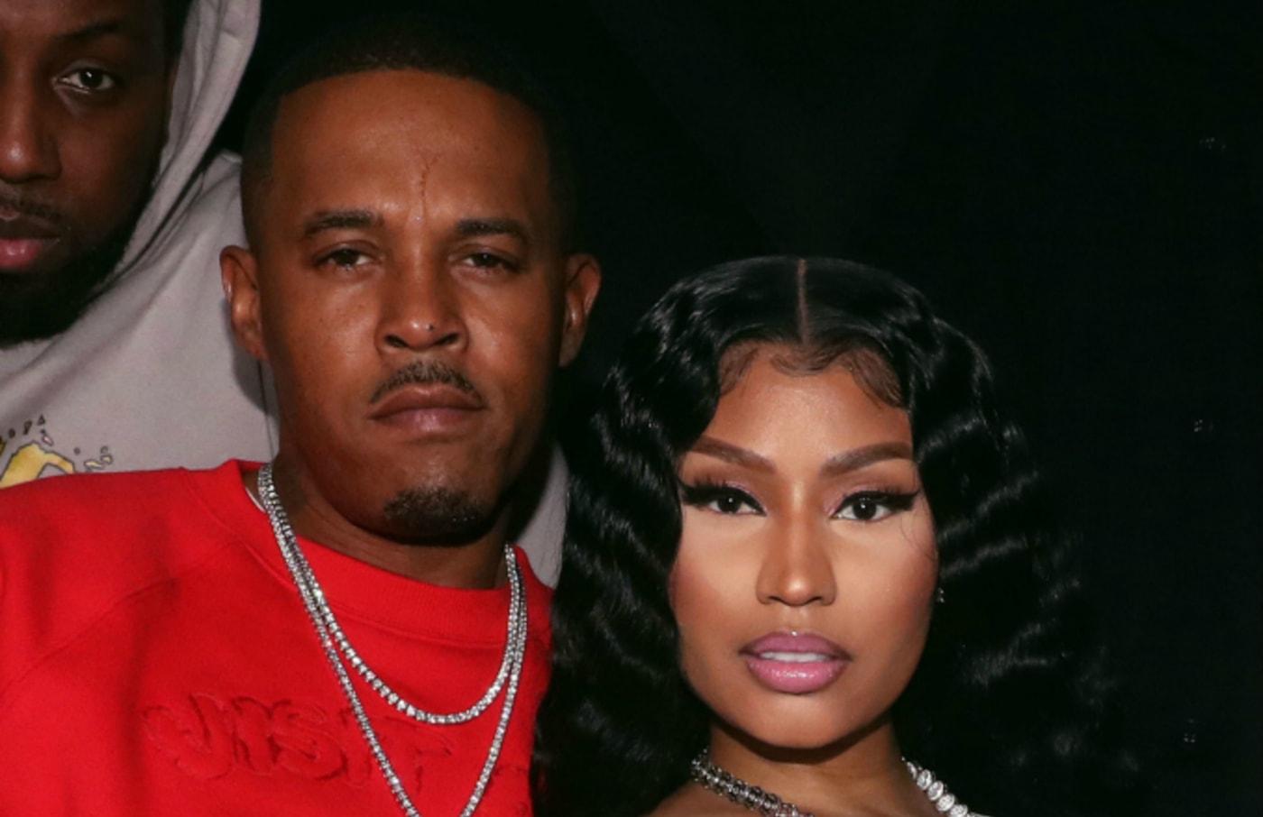 Kenneth Zoo Petty (L) and Nicki Minaj