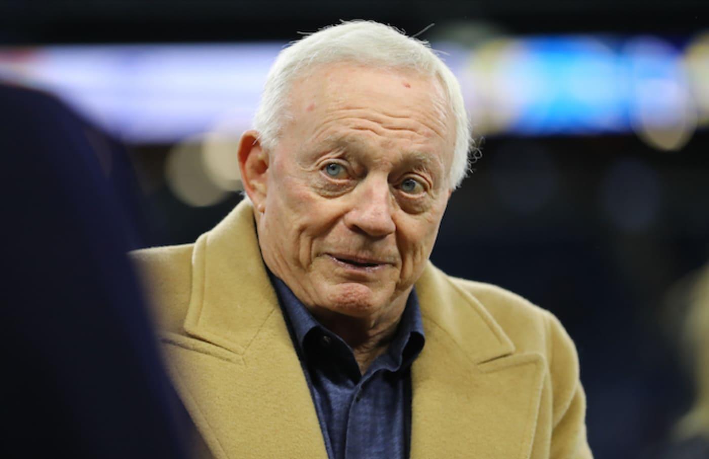 Dallas Cowboys owner Jerry Jones before the game against Detroit Lions.