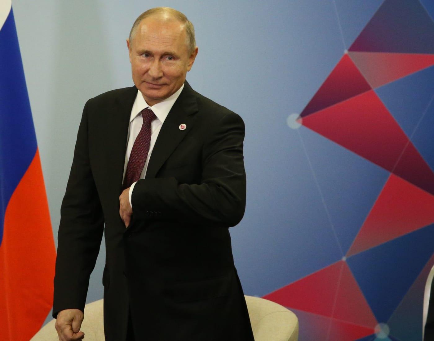 Vladimir Putin onstage