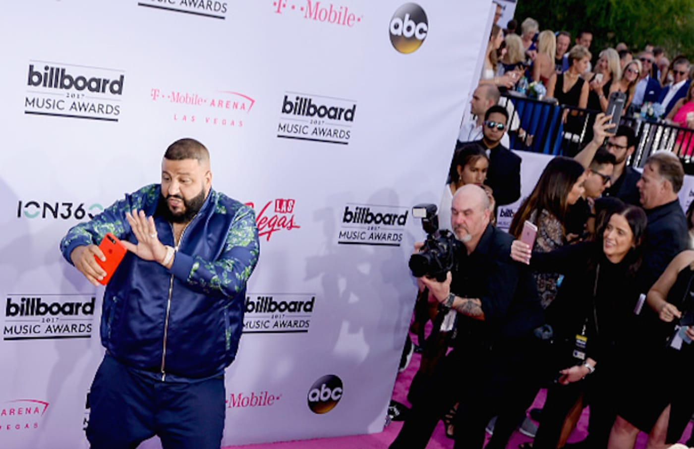 DJ Khaled (L) arrives at the Billboard Music Awards