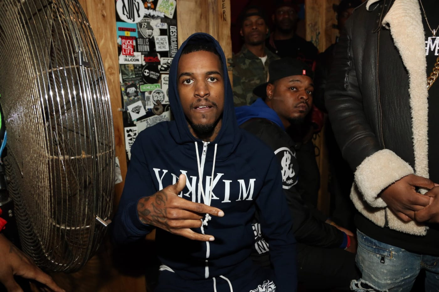 Recording artist Lil Reese backstage at Webster Hall on January 12, 2016, in New York City.