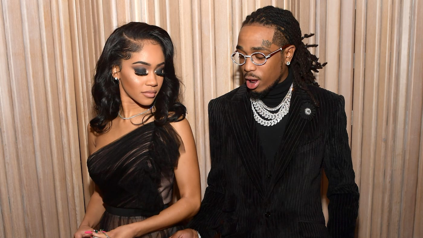 Saweetie and Quavo attend the 2019 GQ Men of the Year celebration.
