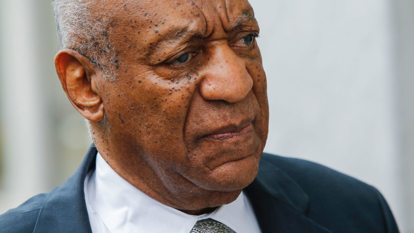 Bill Cosby arrives on the sixth day of jury deliberations of his sexual assault trial.