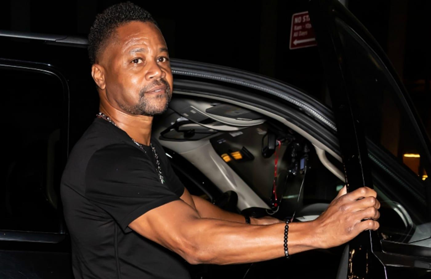 Actor Cuba Gooding Jr. is seen leaving ELLE, Women in Music presented by Spotify