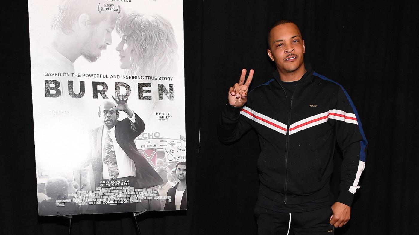 """T.I. attends the """"Burden"""" Atlanta Red Carpet Screening"""