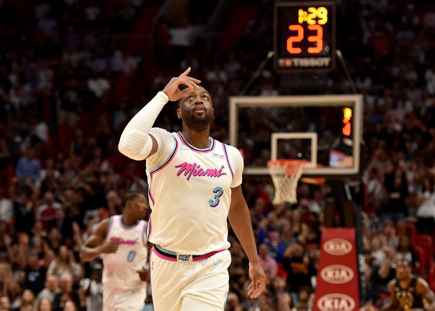 Dwyane Wade Miami Heat Return 2018