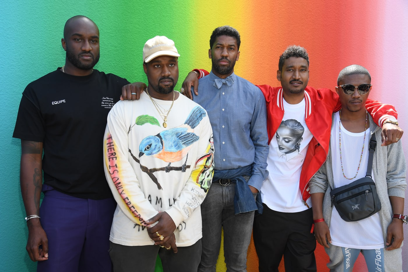 Virgil Abloh, Kanye West, Fonzworth Bentley, Don C, Ibn Jasper