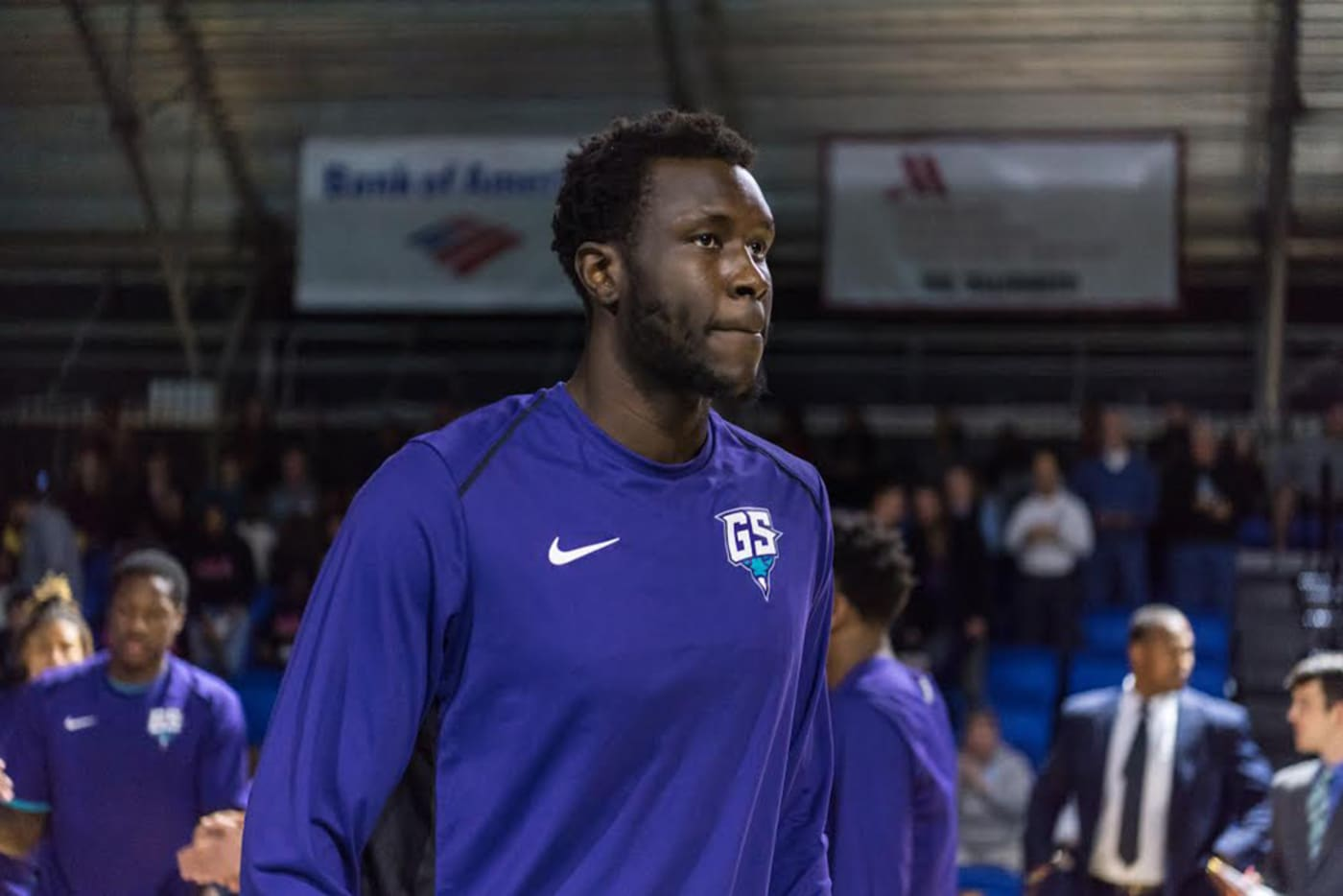 NBA prospect Mangok Mathiang. Photo courtesy of Greensboro Swarm.
