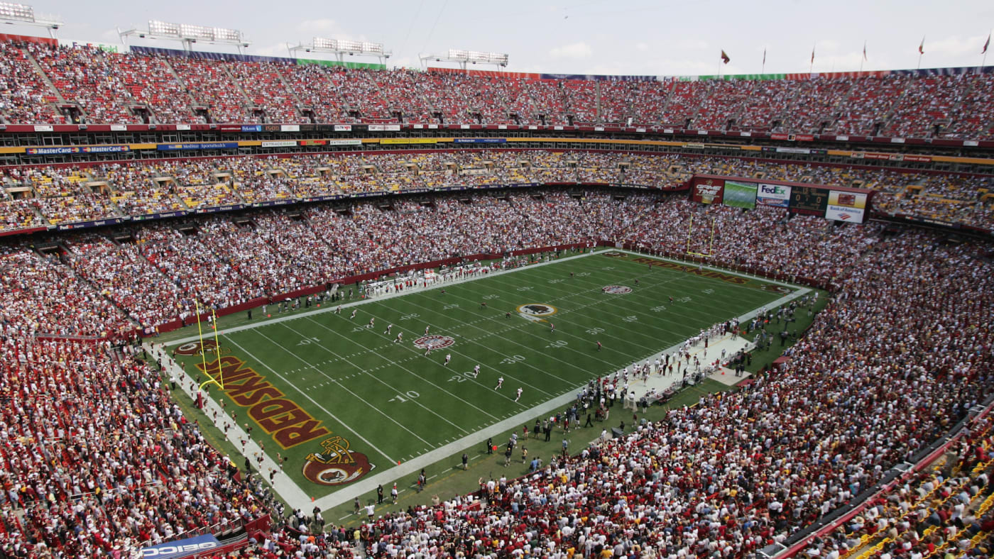 An aerial view of FedEx Field taken during NFL week one