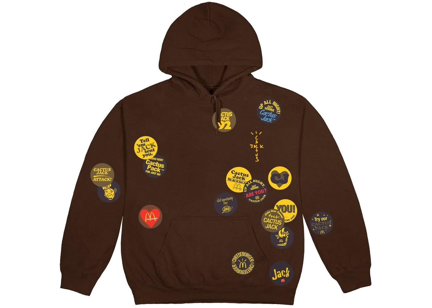 Travis Scott x McDonald's Sticker Bomb Hoodie