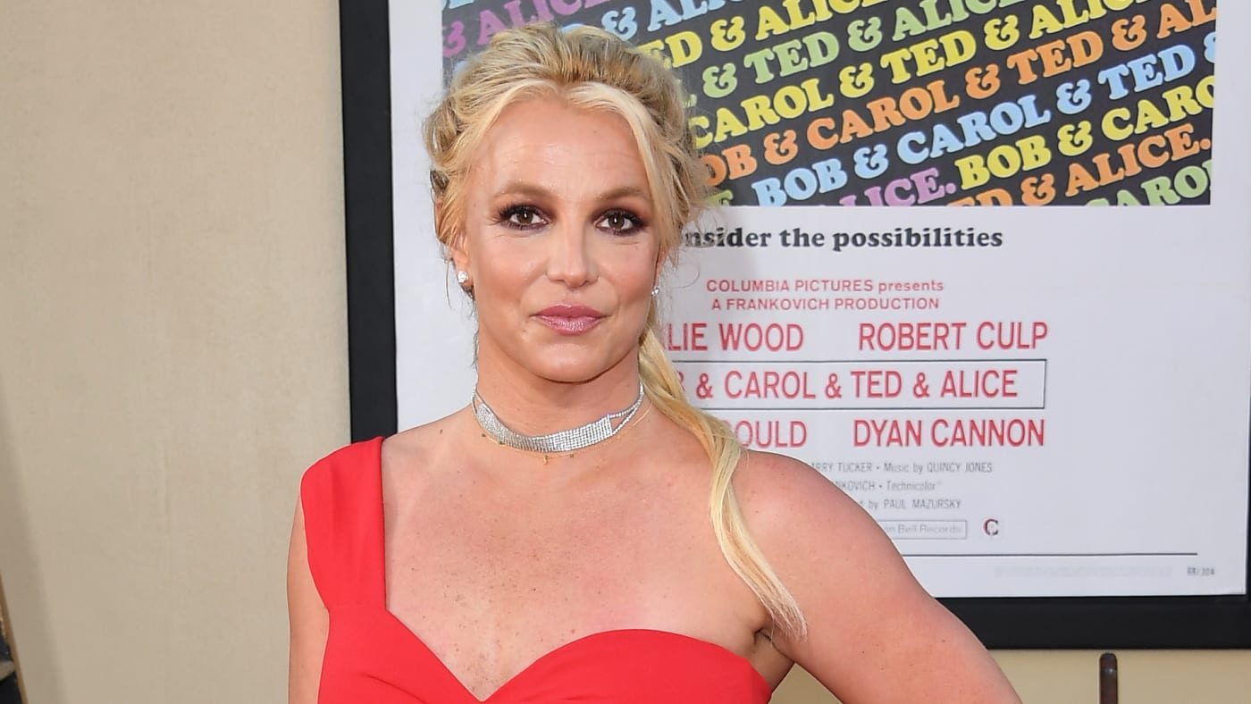 """Britney Spears arrives at the Sony Pictures' """"Once Upon A Time...In Hollywood"""" Los Angeles Premiere."""