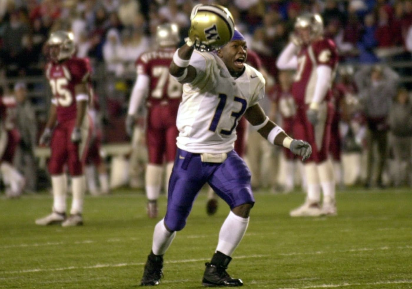 Nate Robinson playing football.