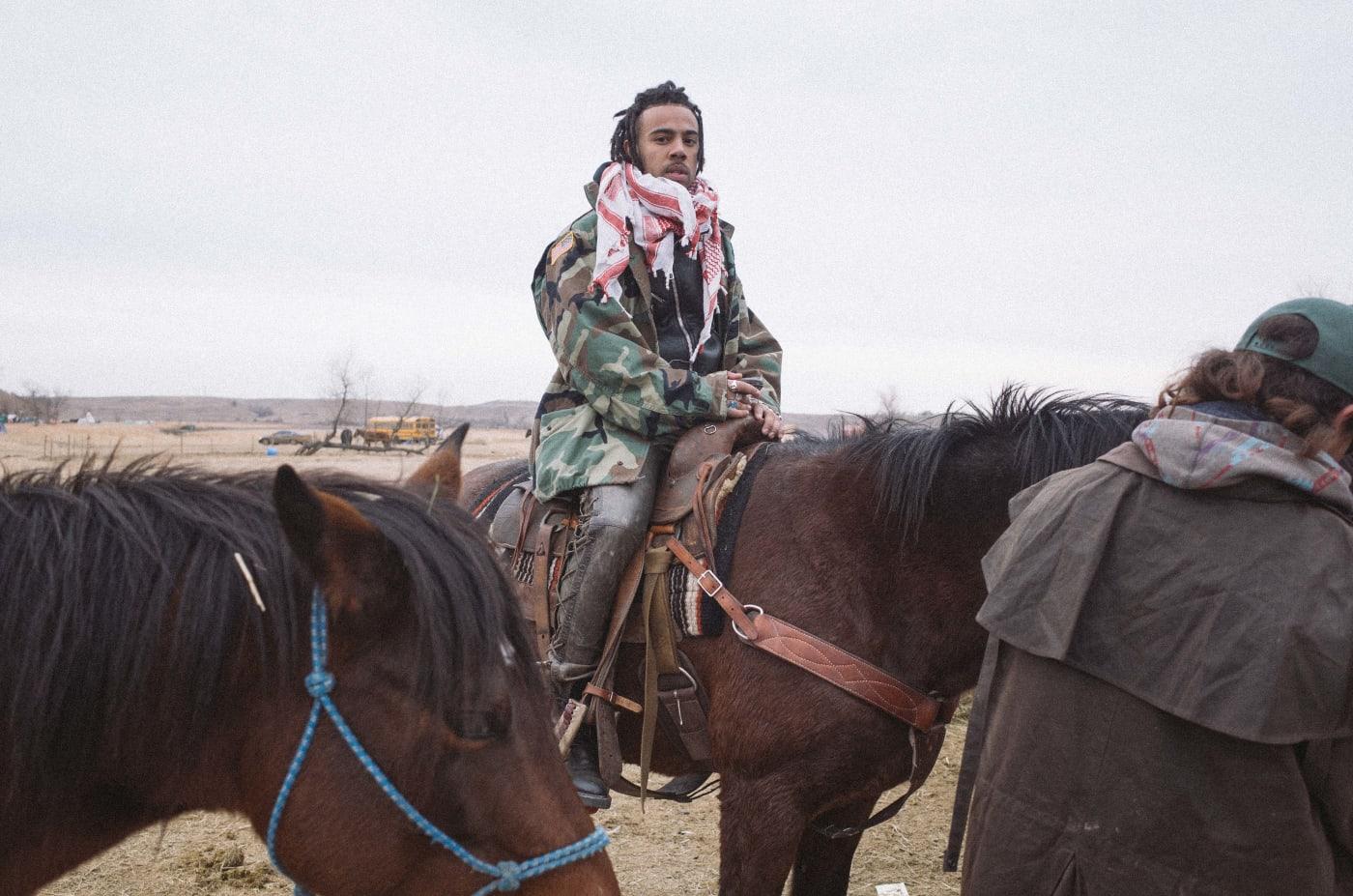 Vic Mensa at Standing Rock
