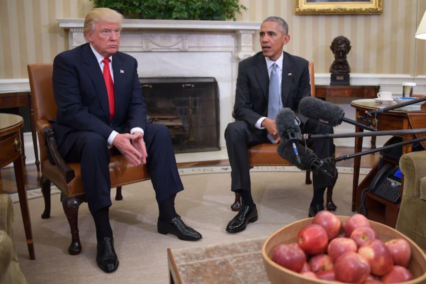obama trump oval