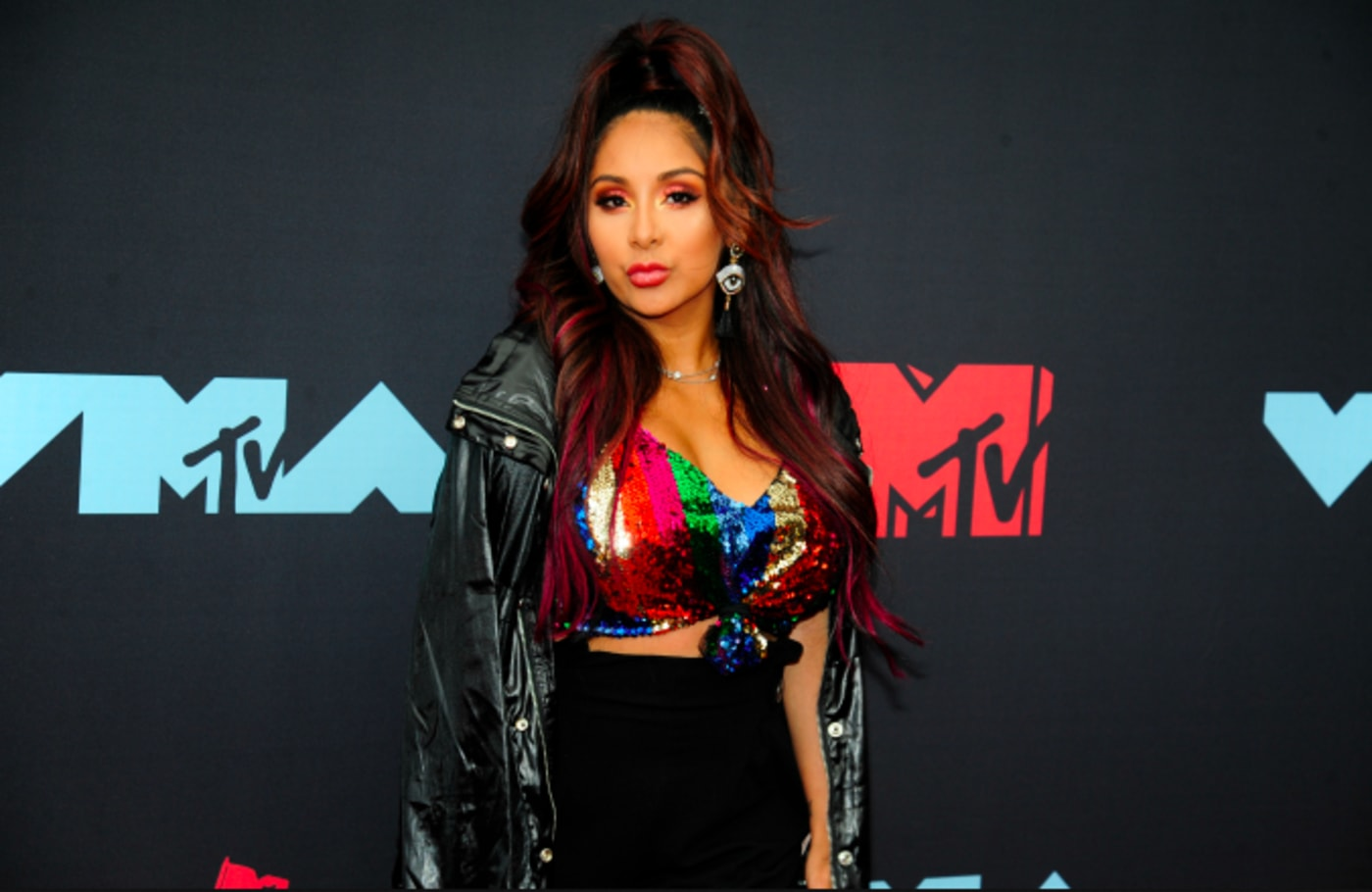 """Nicole """"Snookie"""" Polizzi attends the 2019 MTV Video Music Awards"""
