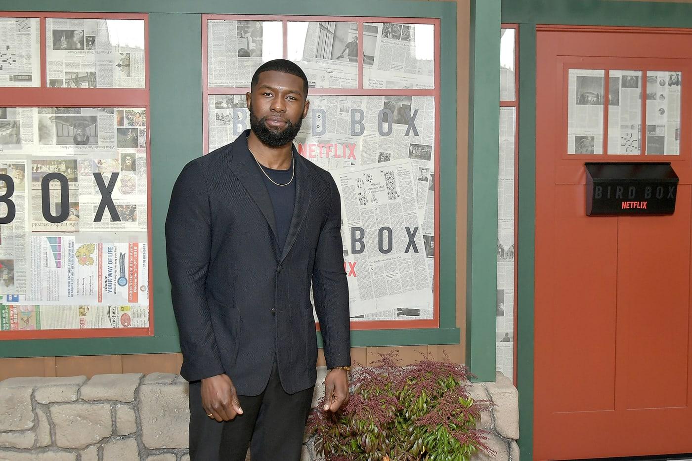 Trevante Rhodes at 'Bird Box' New York screening