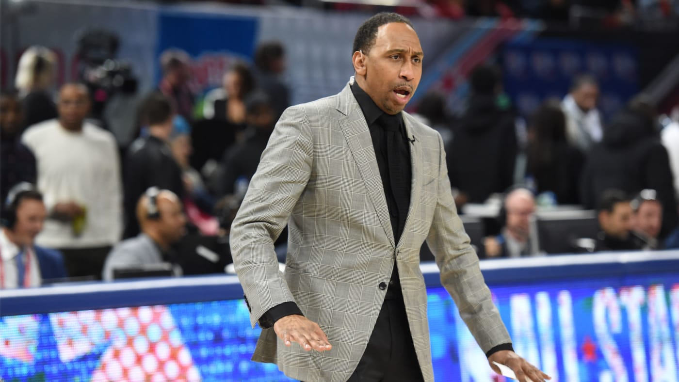 Stephen A. Smith coaches the celebrity All Star Game.