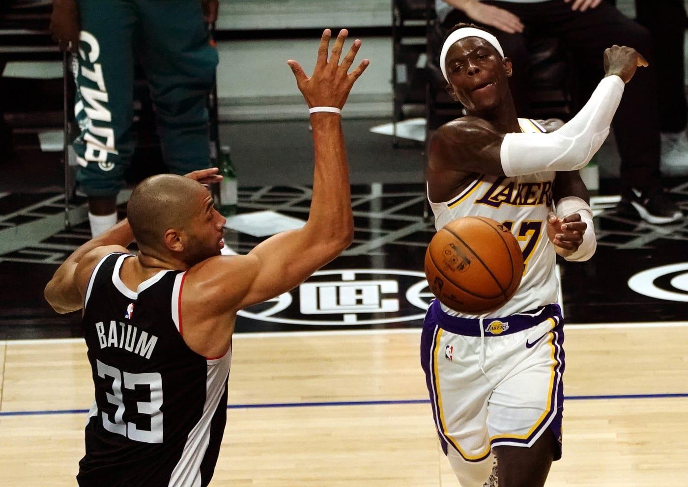 Dennis Schroder Nicolas Batum Lakers Clippers 2021