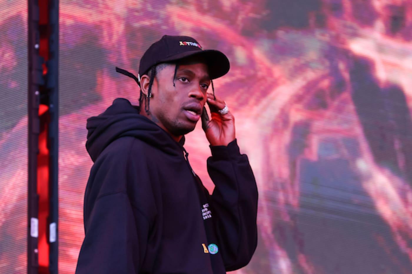 Travis Scott performing in the UK
