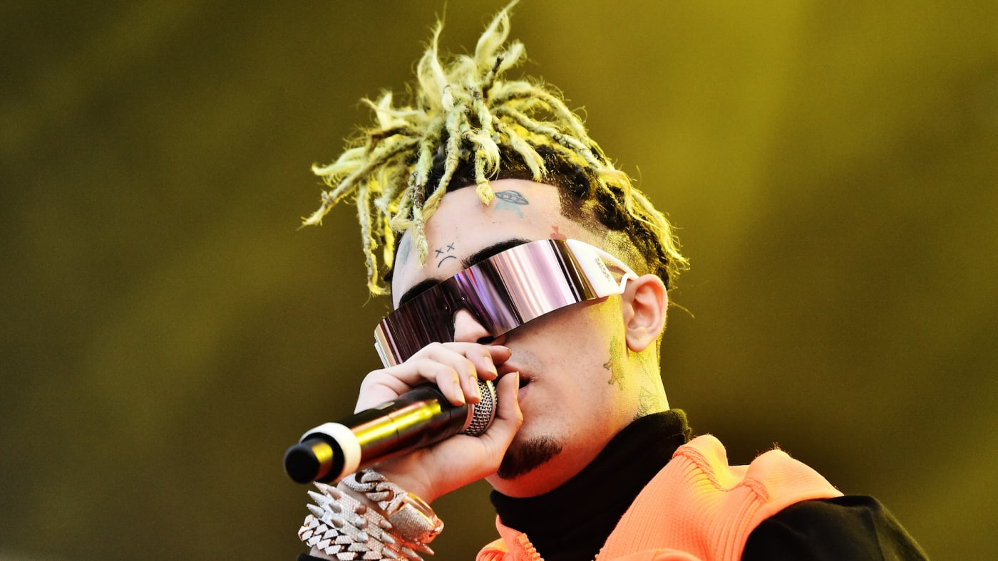 Lil Pump performs during the 2019 Rolling Loud music festival