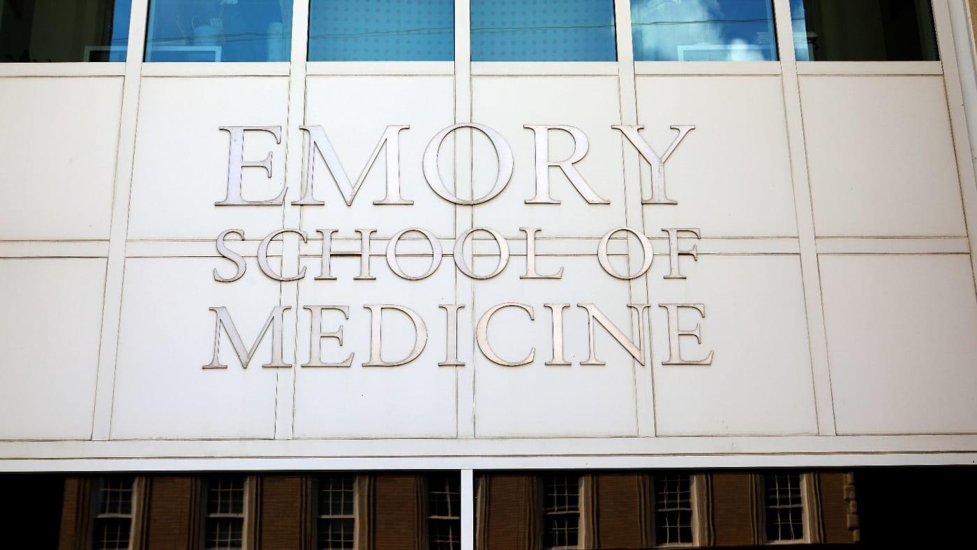 Emory School Of Medicine signage in Atlanta, Georgia.