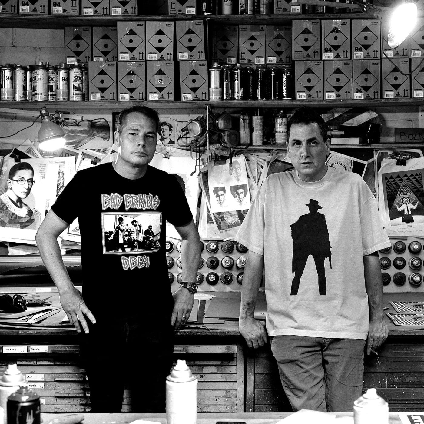 Mike Dean and Shepard Fairey