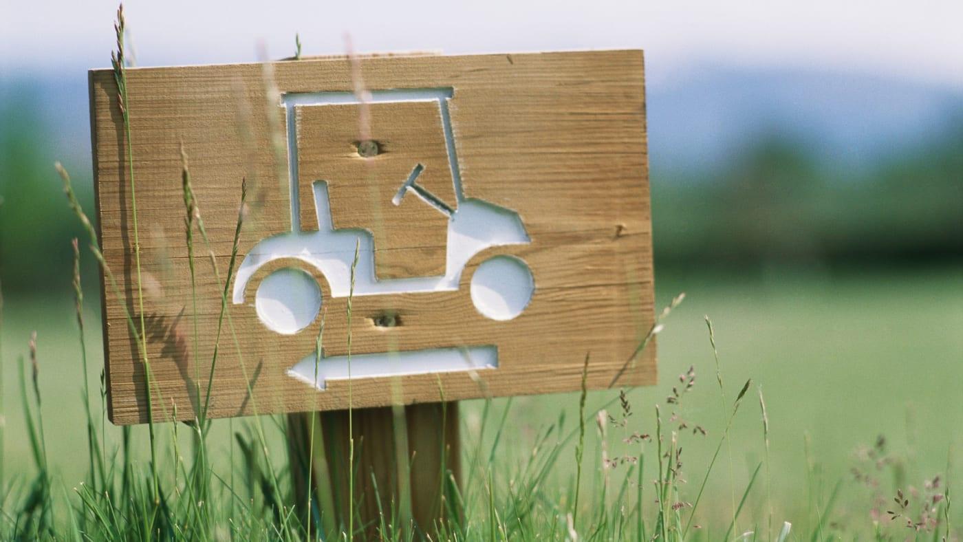 Golf cart sign.