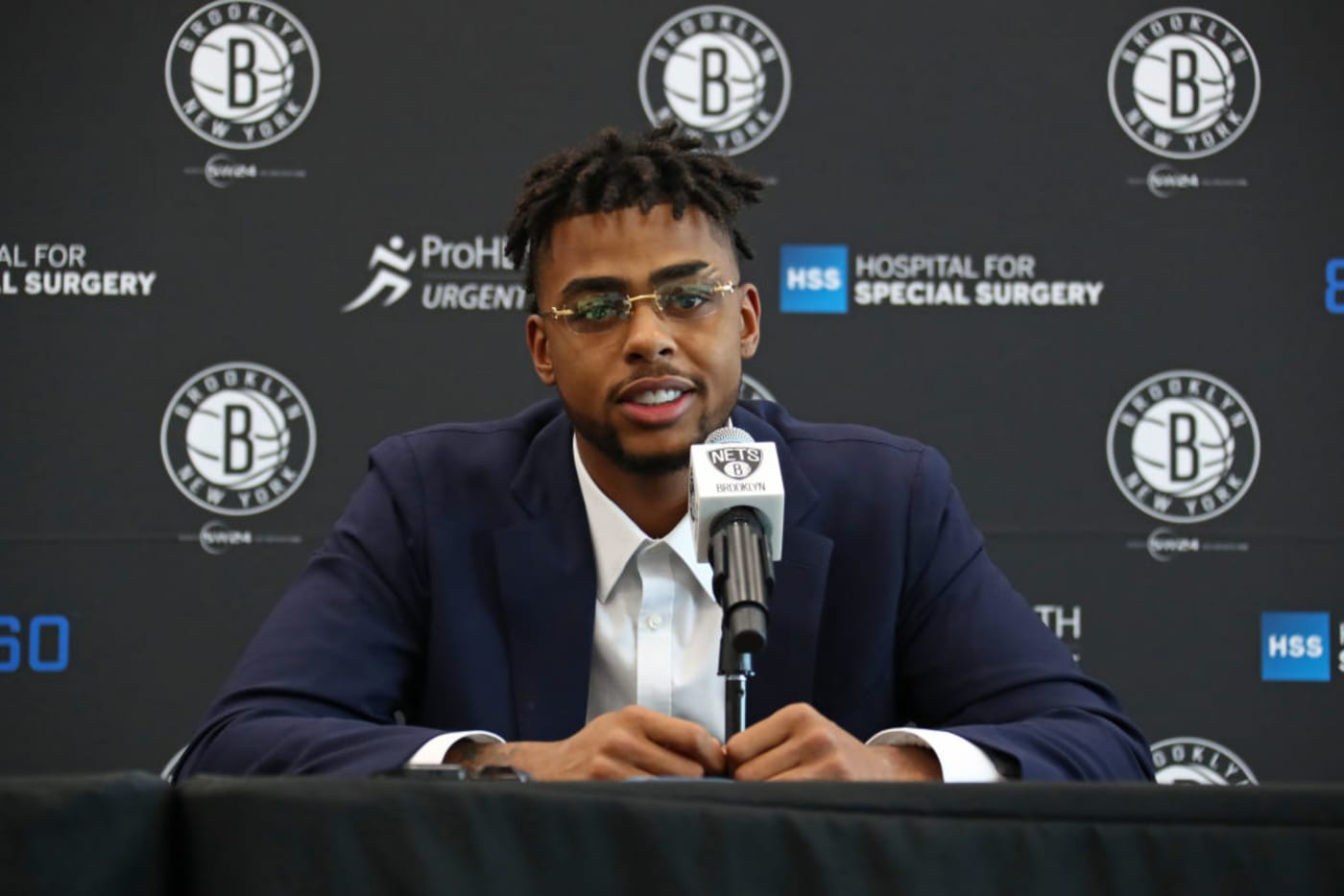 D'Angelo Russell Nets Press Conference 2017 Getty