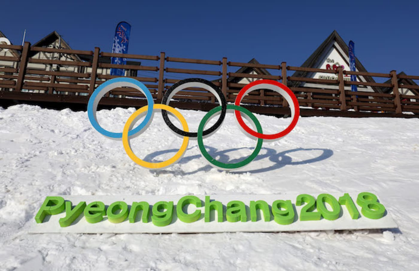 Near the venue for the Opening and Closing ceremony of PyeongChang 2018 Winter Olympic Games.