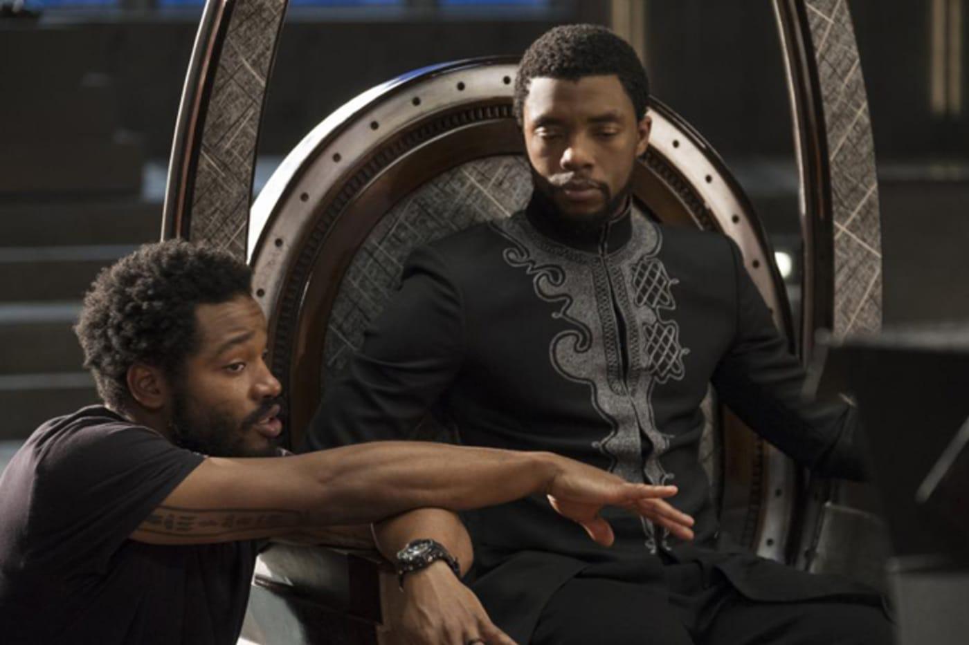 Ryan Coogler and Chadwick Boseman on the set of 'Black Panther'