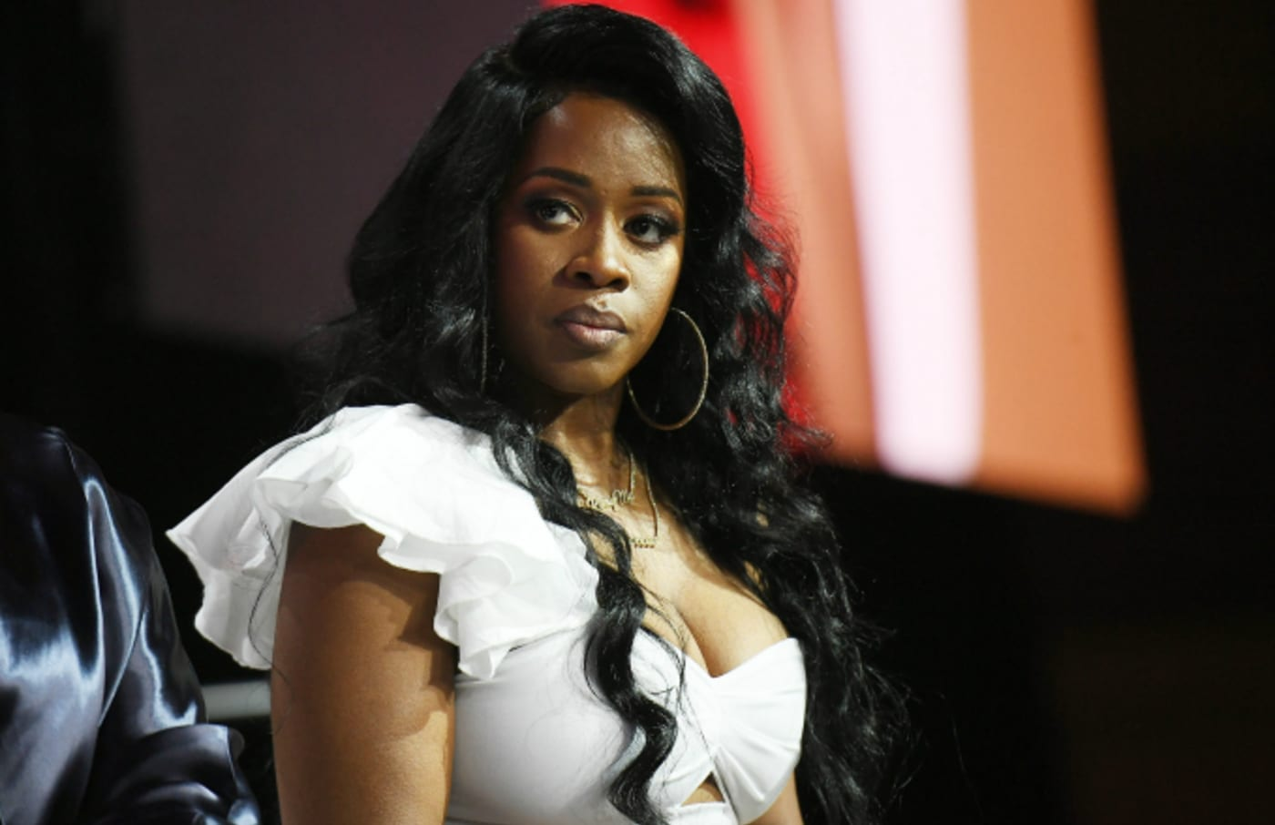 Remy Ma speaks onstage during the 2018 Essence Festival