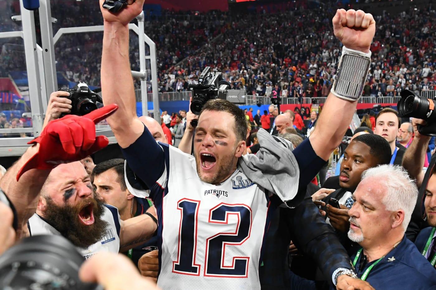Tom Brady Julian Edelman Super Bowl LIII 2019