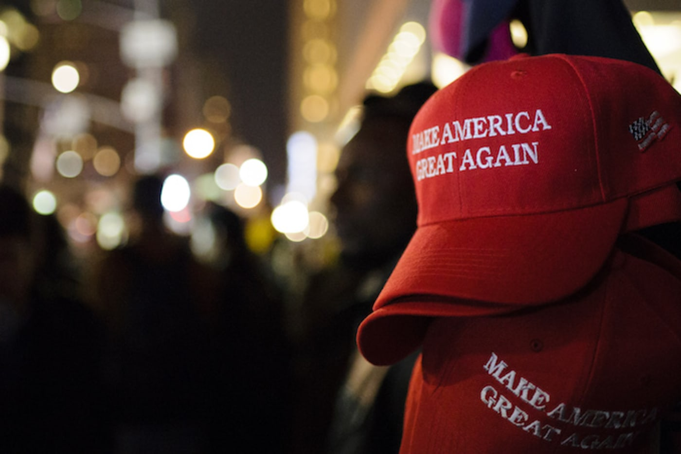 MAGA hat in NYC