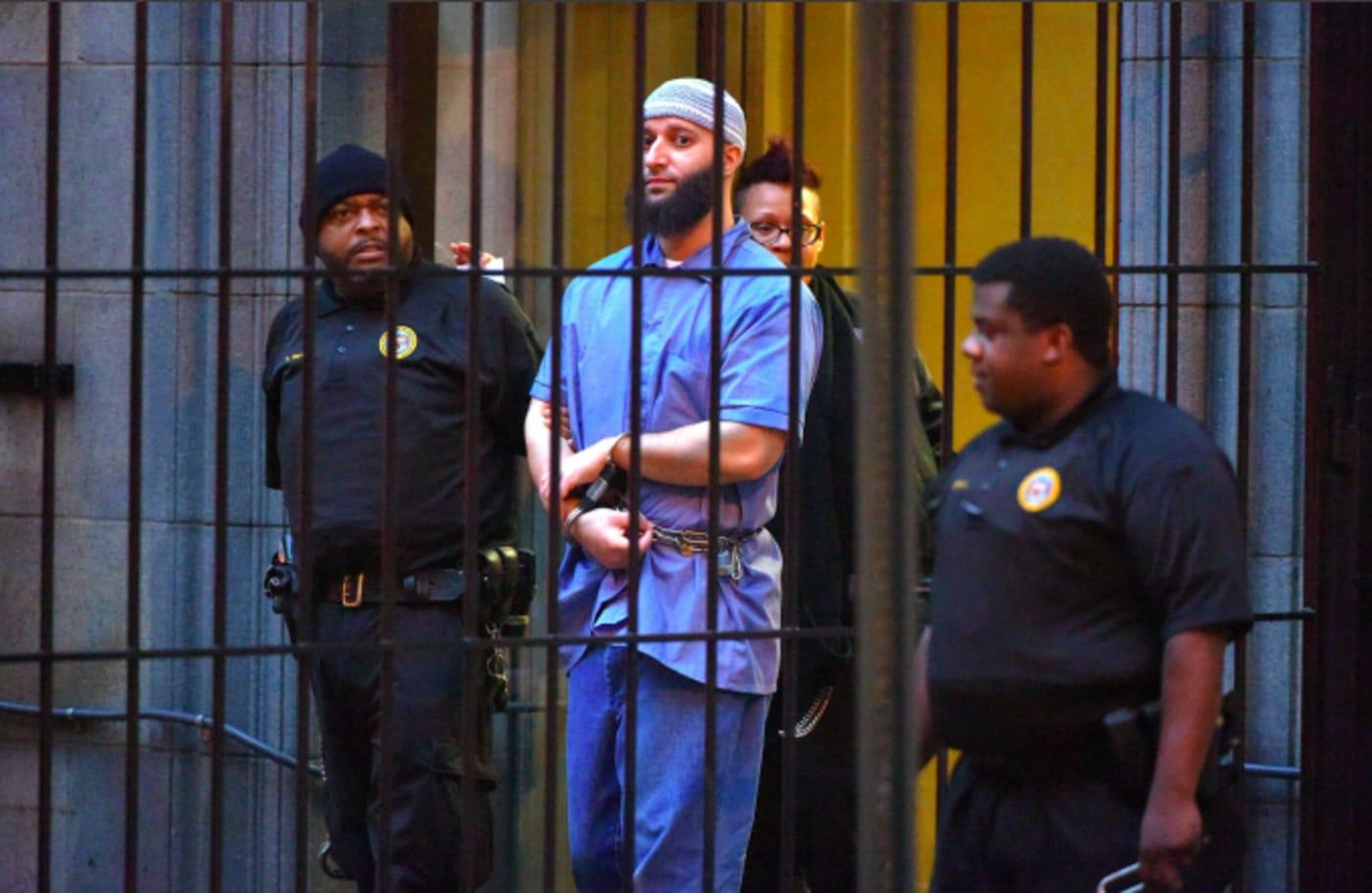 "Officials escort ""Serial"" podcast subject Adnan Syed"